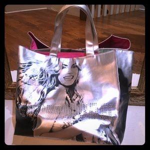 Silver VS supermodel large tote